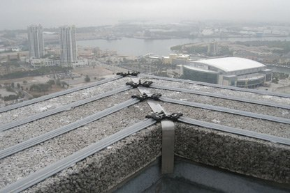 image of electric track on roof top