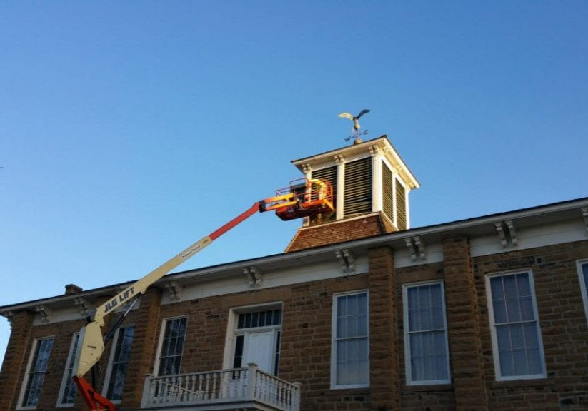 Removal & Exclusion Work on Historical Muscogee Creek Nation Council House Museum in Okmulgee OK